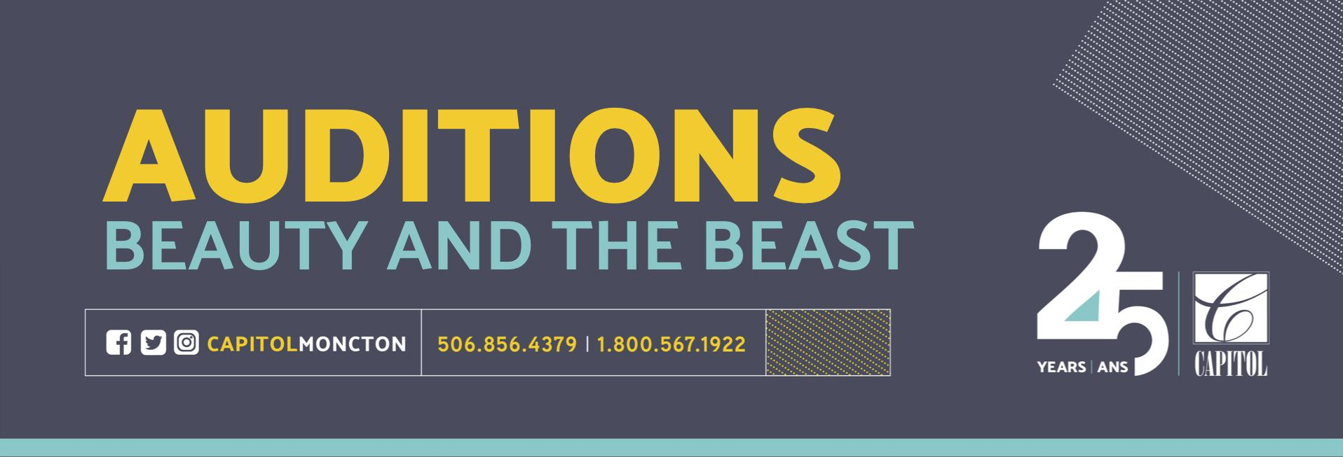 Auditions header BEAUTY AND THE BEAST