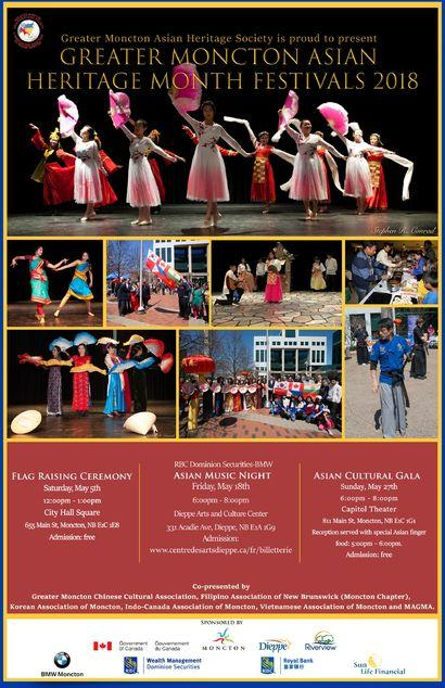 Greater Moncton Asian Heritage Month Festivals 2018 Image 1